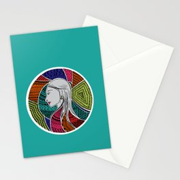 Geometric Girl Stationery Cards