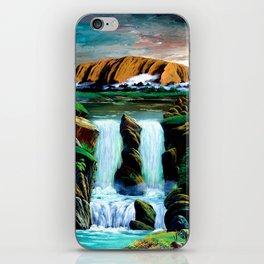 Waterfall in Uluru iPhone Skin