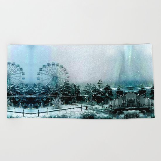 Cold Forest Playground Beach Towel