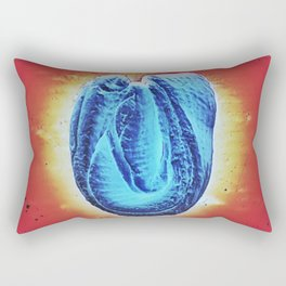 the holy blue blob Rectangular Pillow