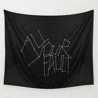 the fault Wall Tapestries featuring All Your Fault by witchoria