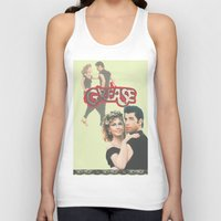 grease Tank Tops featuring Grease  by Dora Birgis