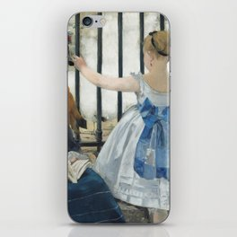 Edouard Manet The Railway 1873 Painting iPhone Skin