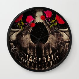 Death and Flowers Wall Clock