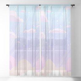 Pastel Heaven Sheer Curtain