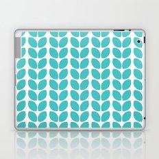 leaves - aqua Laptop & iPad Skin