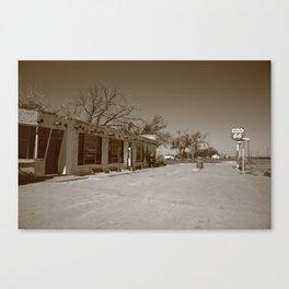 Route 66 - Bent Door Cafe 2012 Canvas Print