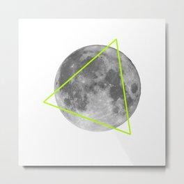 Moon Triangle Metal Print