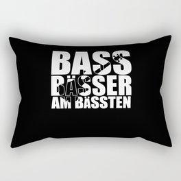 Bass Player Saying BASS BÄSSER AM BÄSSTEN Bass Rectangular Pillow