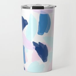 Blue and Pink Paint Travel Mug