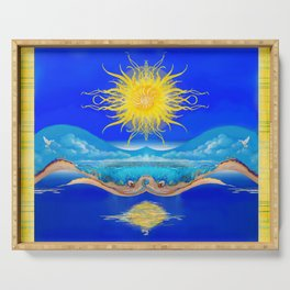 Sacred Sun Serving Tray