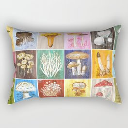 Mushroom Study Rectangular Pillow