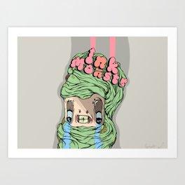 The wrinkle monster. Art Print