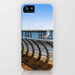 seagulls on the seafront iPhone Case