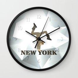 Gymnastics New York Wall Clock