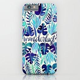 Tropical Wanderlust – Blue iPhone Case