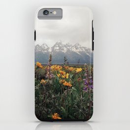 Wildflowers and Mountains - Summer in the Tetons iPhone Case
