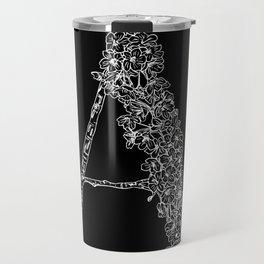 Cherry Blossom A Black Travel Mug