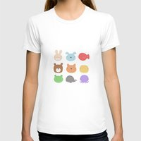 stickers T-shirts featuring Animal Stickers by xiuen