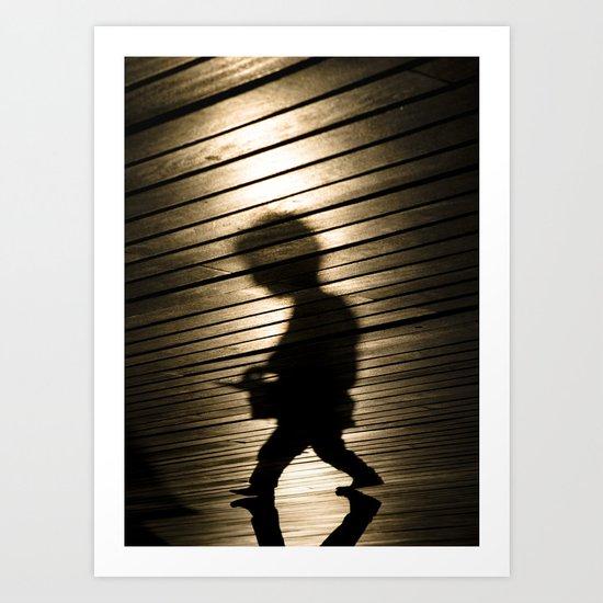 A Slight Resemblance to Bob Dylan, Barcelona Art Print