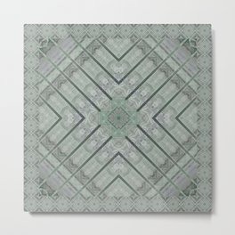 Refreshing Mint Green Tea Maze Metal Print