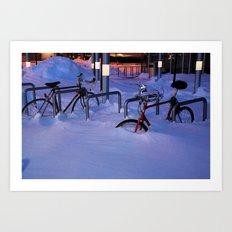 dude, where is my bike? Art Print