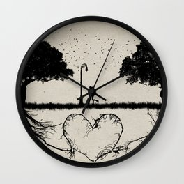together for love Wall Clock