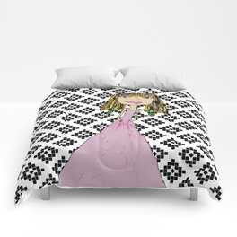 Pink Lady from Casablanca Comforters