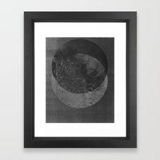 TWO MOON Framed Art Print