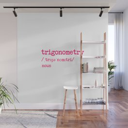 Trigonometry Teacher Word Definition Dictionary Mathematics Wall Mural