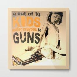 KIDS prefer PAINTING Metal Print