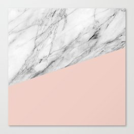 Marble and pale dogwood color Canvas Print