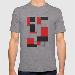 Geometric Abstract - Rectangulars Colored T-shirt