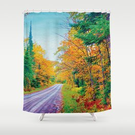 Back Road in the Fall Shower Curtain