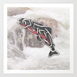 Celtic Knot Salmon Art Print