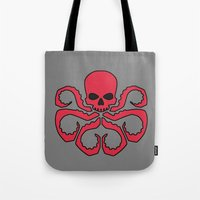 hydra Tote Bags featuring Hydra by Beastie Toyz