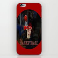 basketball iPhone & iPod Skins featuring Basketball by LoRo  Art & Pictures