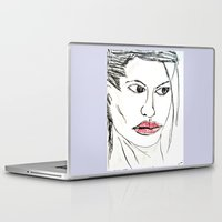 angelina jolie Laptop & iPad Skins featuring ANGELINA JOLIE by ART OF JAN
