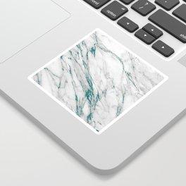 Gray Marble Aqua Teal Metallic Glitter Foil Style Sticker