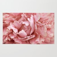 peony Area & Throw Rugs featuring Peony by Cindi Ressler Photography
