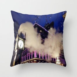 That Starry Night at Gastown Throw Pillow