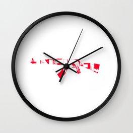 Infidel AK47 Rifle Red White Wall Clock