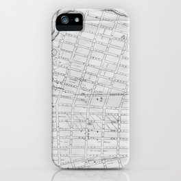 Vintage Map of Williamsburg Brooklyn (1827) iPhone Case