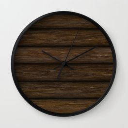 Log Cabin Wall Clock