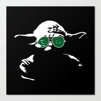 yoda Canvas Prints featuring Yoda by eARTh