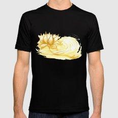 The Golden Lotus MEDIUM Mens Fitted Tee Black