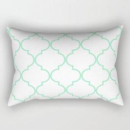 Quatrefoil - Mint Green Rectangular Pillow