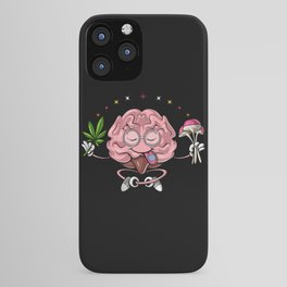 Trippy Psychedelic Brain iPhone Case