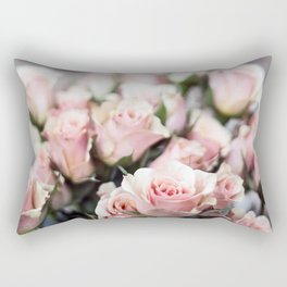 ROSES - PINK - PHOTOGRAPHY - FLOWERS Rectangular Pillow