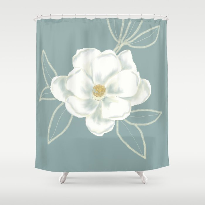 Magnolia Flower Shower Curtain By Murspasttime Society6